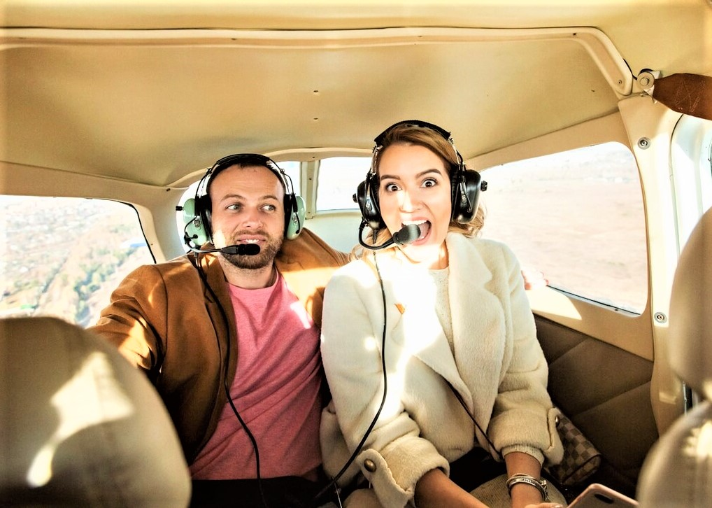 Полет на самолете для двоих