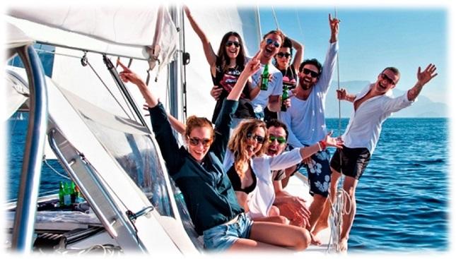 Отдых на яхте для компании